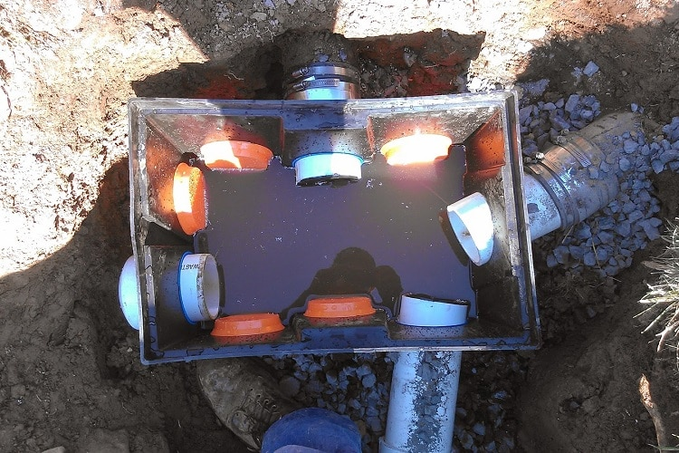 Distribution boxes installation repair river valley septic for Septic tank distribution box location